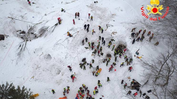 Sono 135 i soccorritori al lavoro