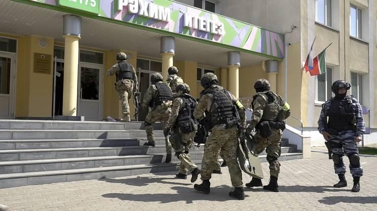 Sono intervenute le forze speciali della polizia