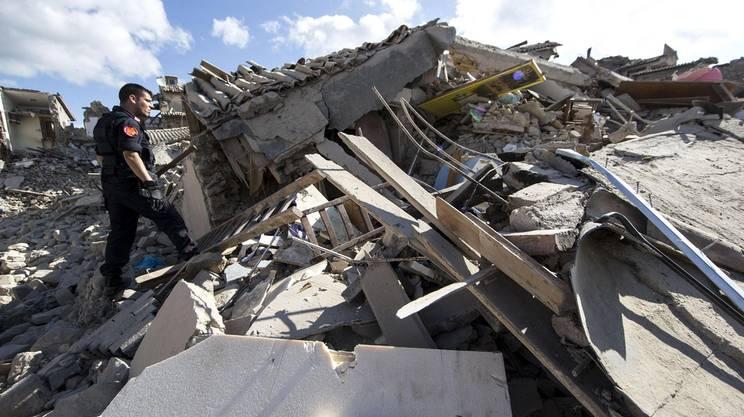 Un altro scorcio di Amatrice distrutta dal sisma