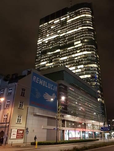 Il centro città di Varsavia in rapida e profonda trasformazione