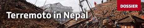 Banner terremoto in Nepal
