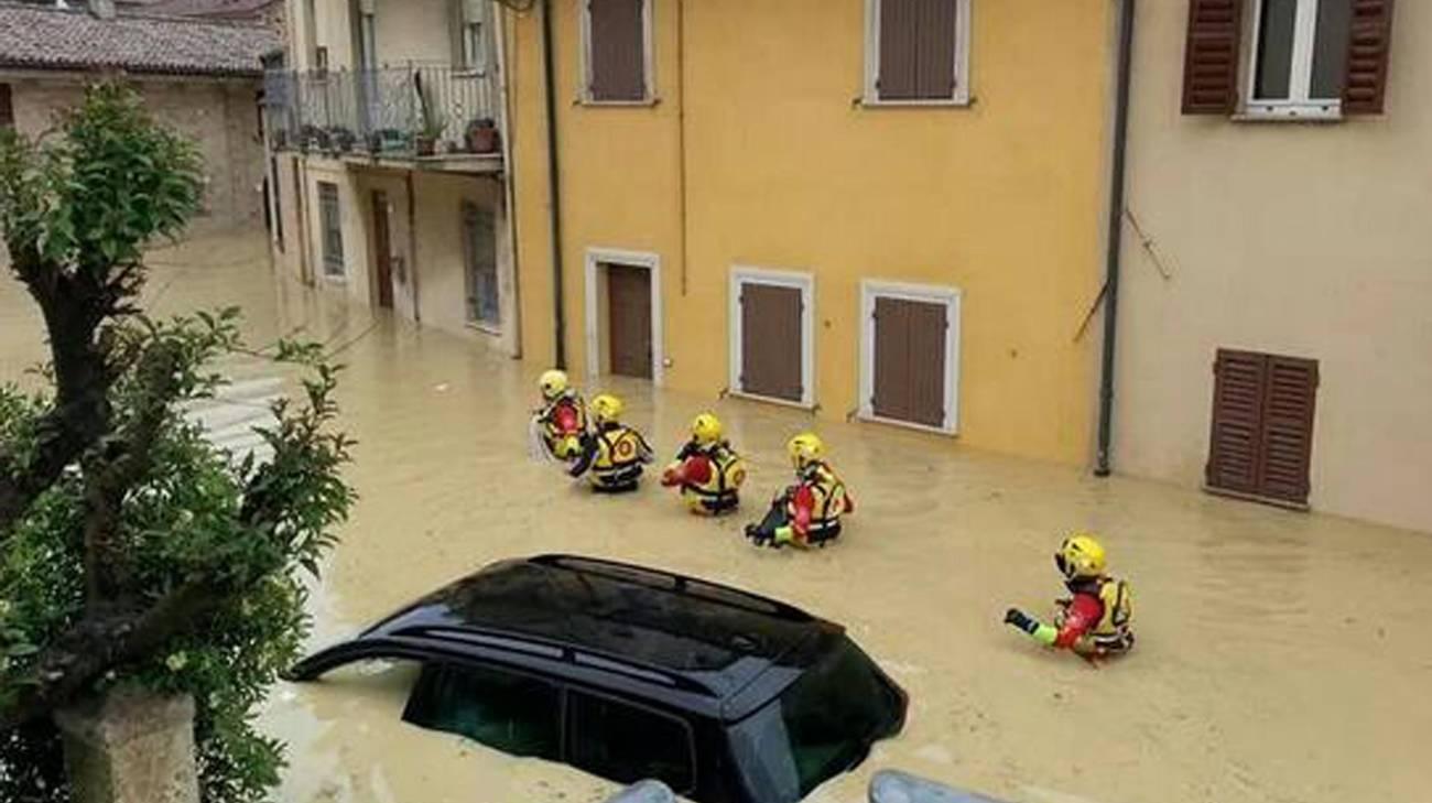 La città di Senigallia sommersa