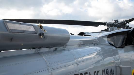 Colombia, colpito l'elicottero del presidente