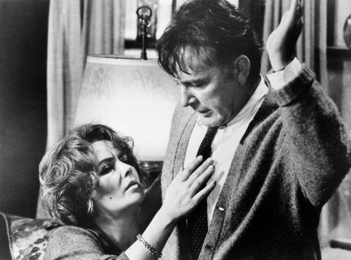 Liz Taylor e Riichard Burton in 'Chi ha paura di Virginia Woolf?'