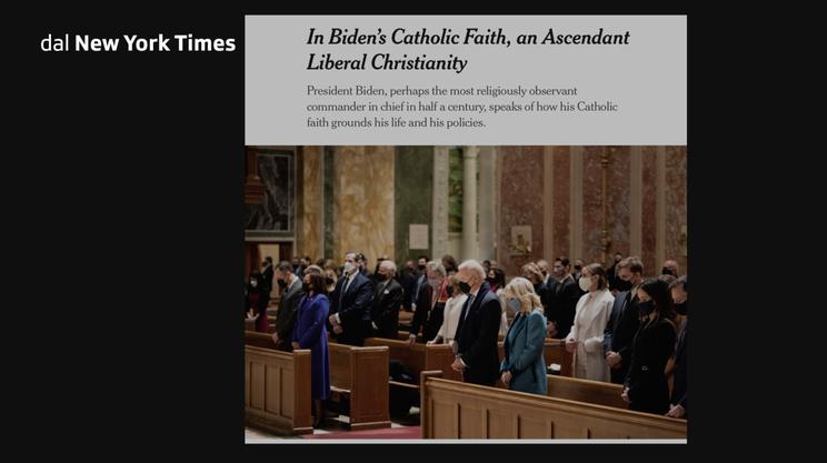 I media statunitensi non hanno dato grande risalto alla fede di Biden prima dell0elezione