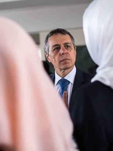 Il consigliere federale Ignazio Cassis in Giordania