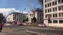 Chiesa in fiamme a Ginevra