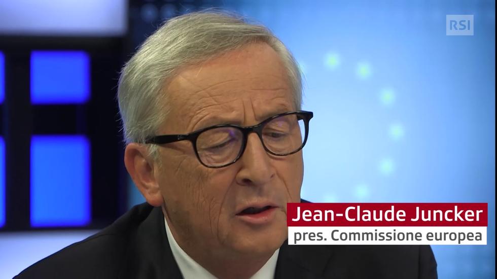 """Juncker: """"Amo il Ticino ma mi dispiace che i ticinesi votino a destra"""""""