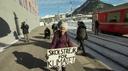 Greta a Davos (in treno)