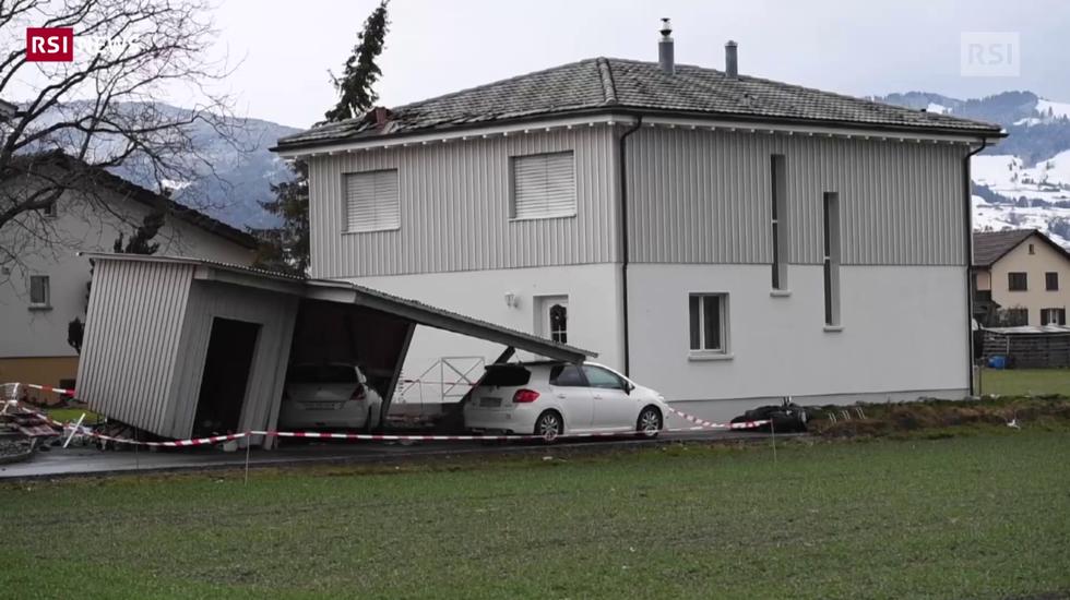 I venti tempestosi di Uwe hanno provocato danni a nord delle Alpi
