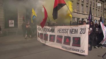 Corteo anti-Erdogan a Berna