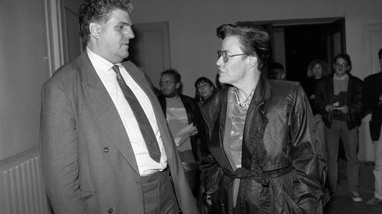 1979: Daniel Brélaz con Yvette Jaggi al momento della sua storica elezione in Nazionale