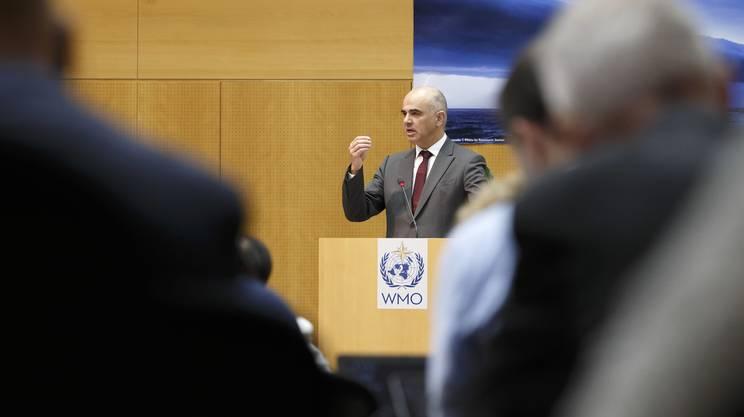 Alain Berset durante il suo intervento