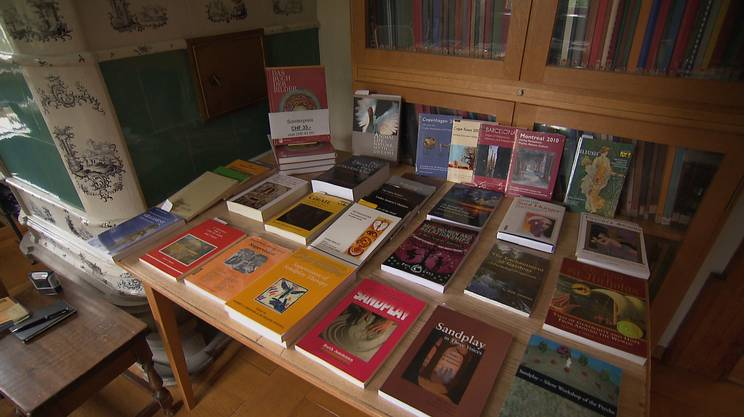 Alcune delle opere presenti nella biblioteca