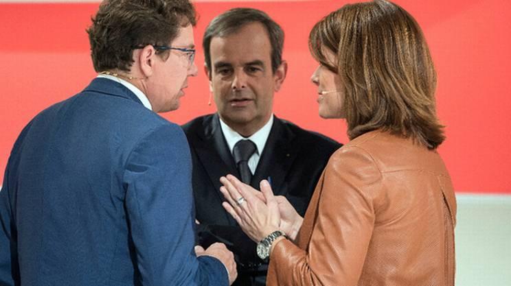 Conciliaboli tra Albert Rösti (UDC), Gerhard Pfister (PPD) e Petra Gössi (PLR)
