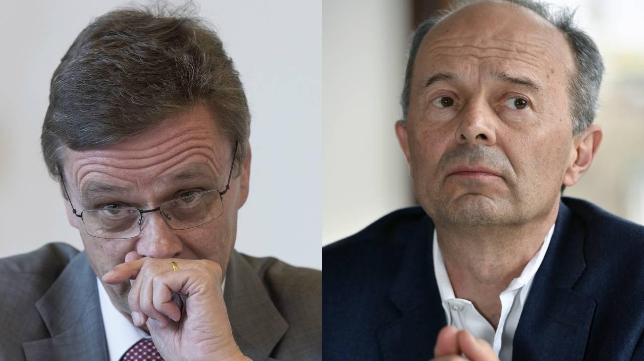 Da sinistra a destra, il ministro bernese e il capo dicastero sicurezza della città di Zurigo