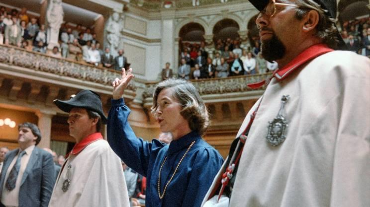Elisabeth Kopp: prima donna eletta in Governo, nel 1984, ma destinata ad un'ingloriosa uscita di scena, cinque anni più tardi