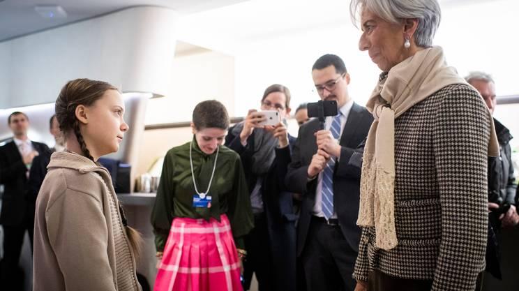 Greta Thunberg e Christine Lagarde