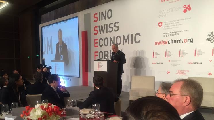 Il forum economico sino-svizzero è stato aperto venerdì da Johann Schneider-Ammann