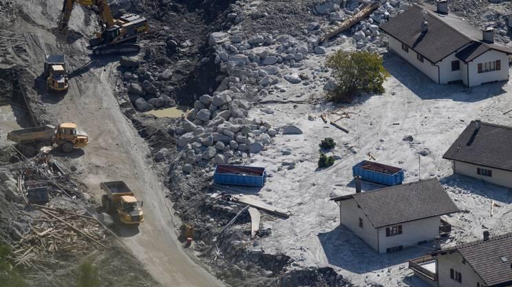 Il villaggio di Bondo invaso dai detriti