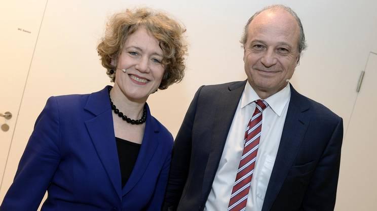 In corsa per la carica di capo dell'Esecutivo della città di Zurigo: la sindaca uscente Corine Mauch (PS) e Filippo Leutenegger (PLR)