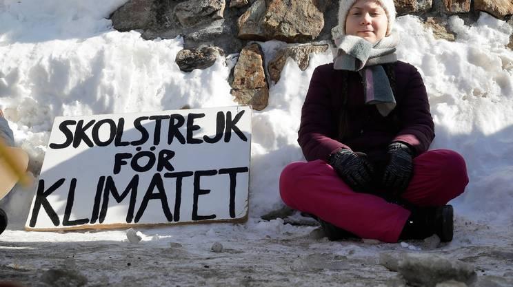 In sciopero per il clima, anche a Davos