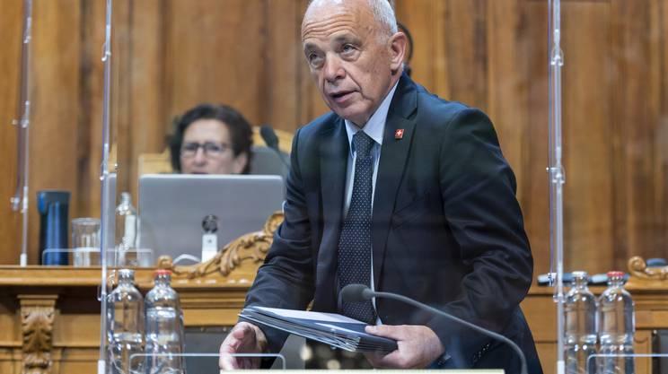 Inascoltata la posizione governativa presentata da Ueli Maurer