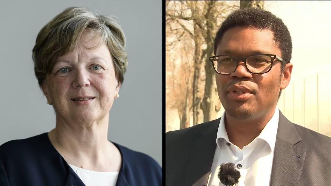 Isabelle Chassot e Carl-Alex Ridoré: i due candidati in lizza, nel canton Friborgo, per la successione a Christian Levrat al Consiglio degli Stati