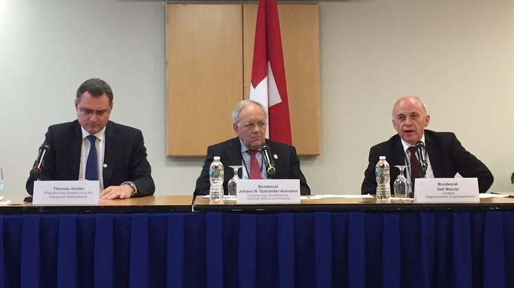 Johann Schneider-Ammann e Thomas Jordan hanno pure partecipato agli incontri