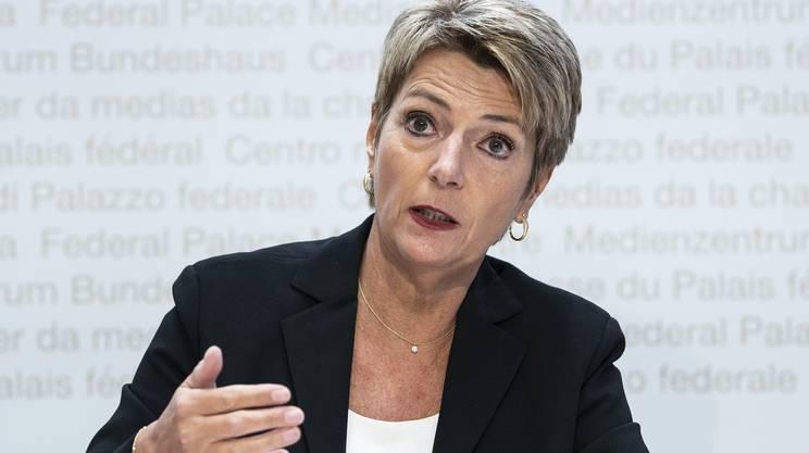 Karin Keller-Sutter ha illustrato in conferenza stampa la posizione contraria dell'Esecutivo