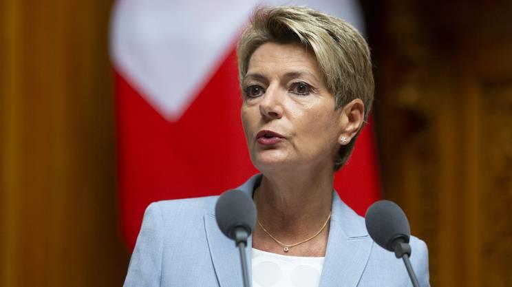 La consigliera federale e responsabile del DFGP Karin Keller-Sutter