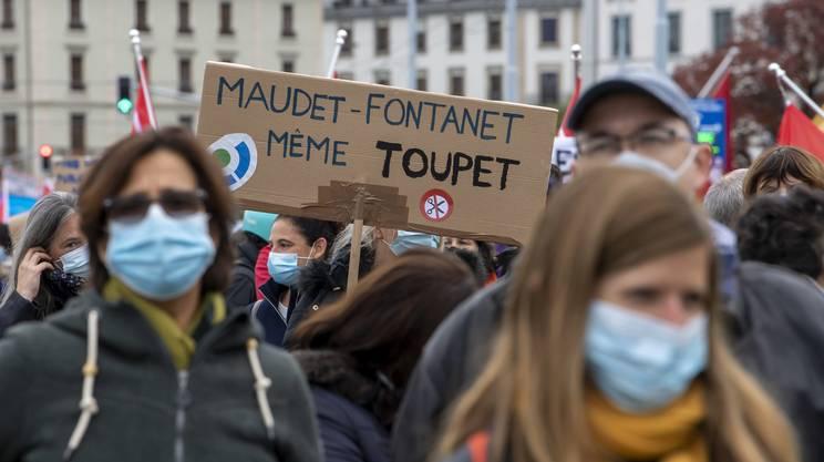 La manifestazione di Ginevra