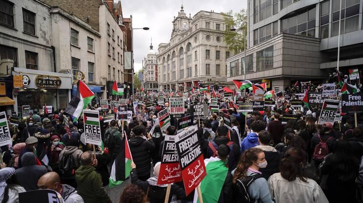 La manifestazione londinese