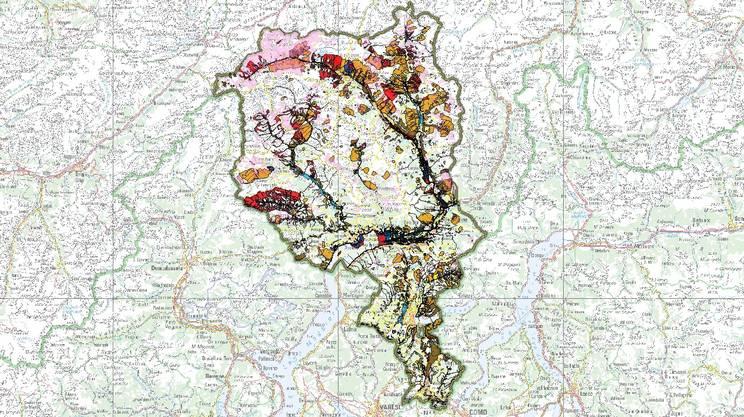 La mappa dei pericoli naturali in Ticino