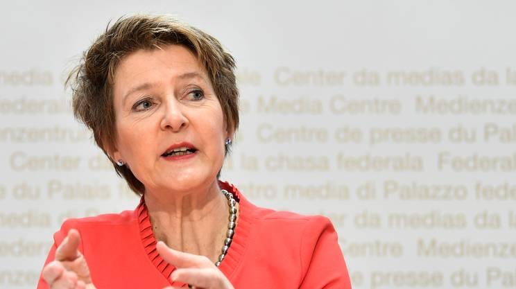 La ministra, in conferenza stampa a Berna, ha commentato l'esito della votazione
