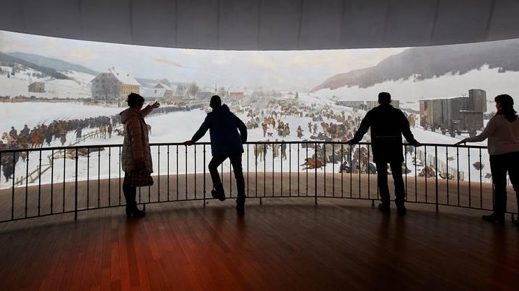 La monumentale immagine panoramica al Museo Bourbaki Panorama di Lucerna