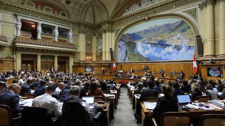 L'aula del Consiglio nazionale, che ospiterà la seduta delle Camere riunite