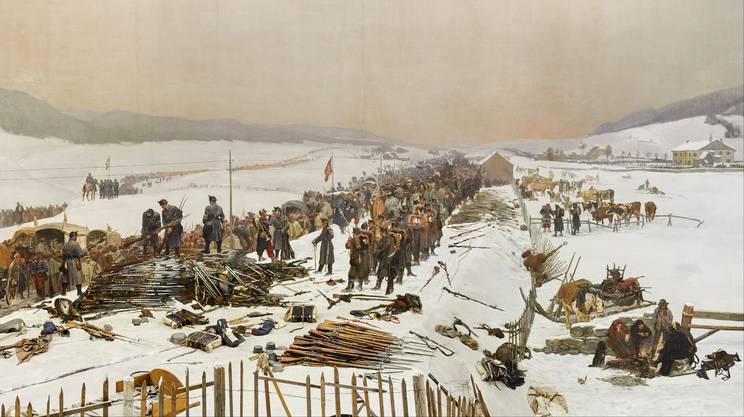 Le armi requisite ai soldati francesi, dopo il loro ingresso nel territorio svizzero