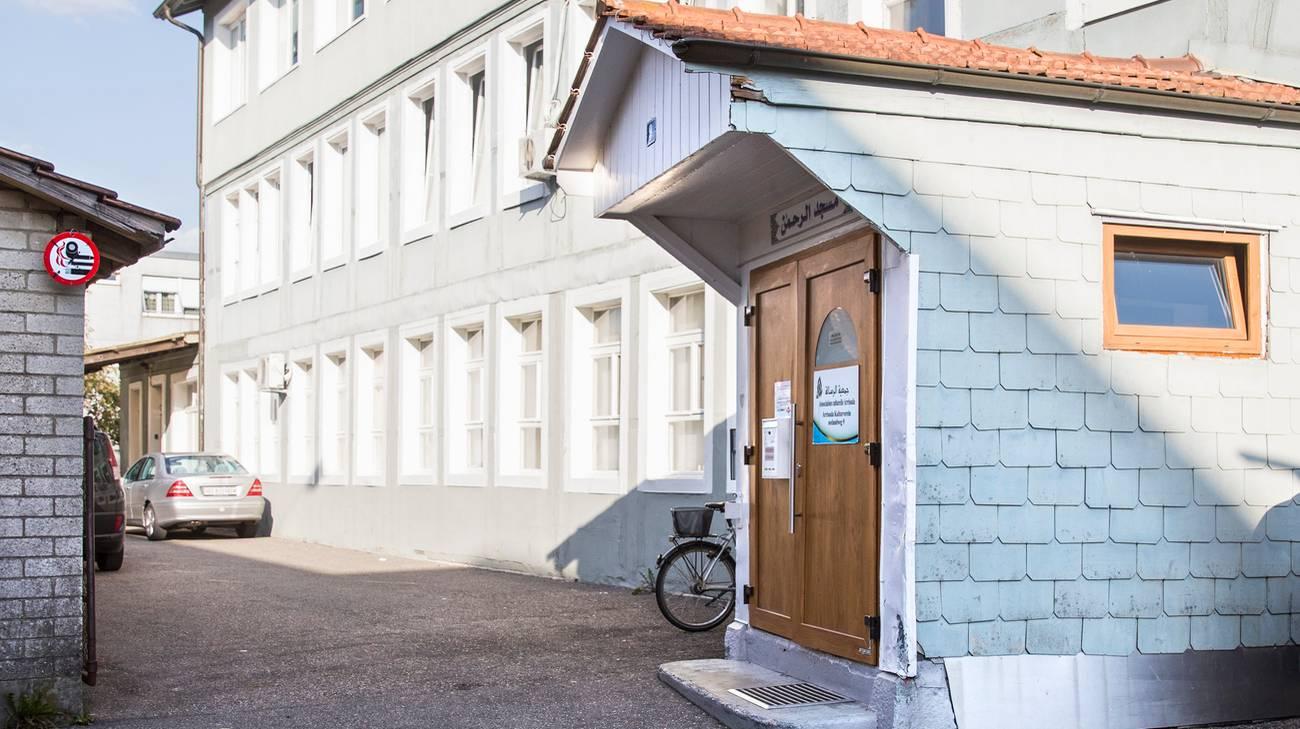 L'entrata della moschea Ar'Rahman di Bienne