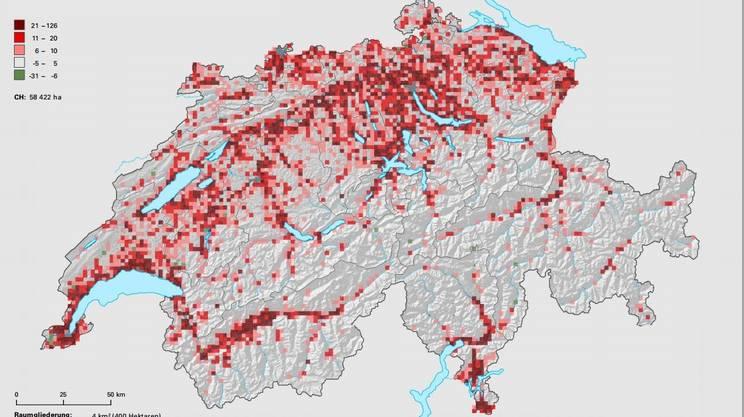 L'evoluzione del consumo del territorio svizzero: il confronto tra 1985 e 2004