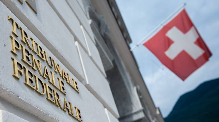 L'ingresso del Tribunale penale federale di Bellinzona