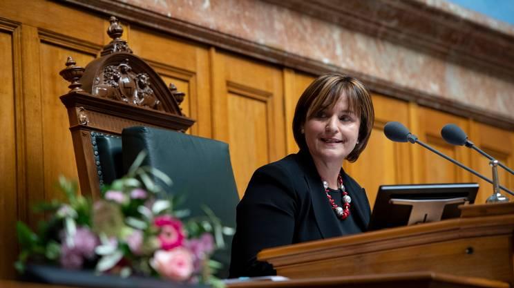 Marina Carobbio, appena eletta alla testa del Nazionale, presiederà la seduta dell'Assemblea federale