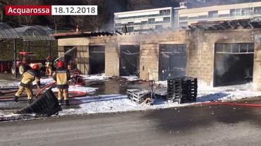 Brucia un garage ad Acquarossa