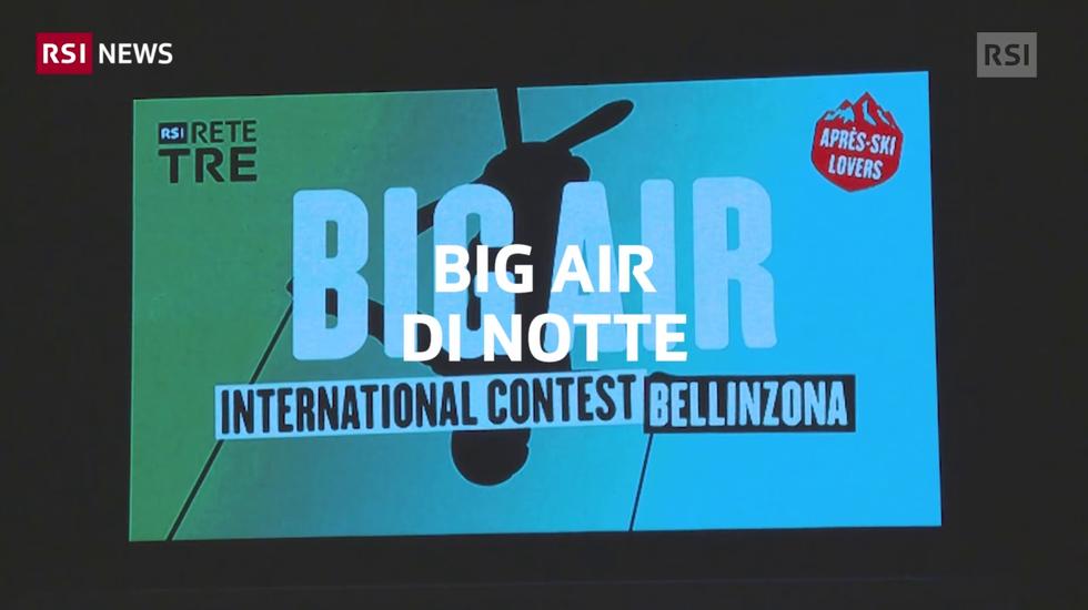 Lo spettacolo serale al Big Air di Bellinzona