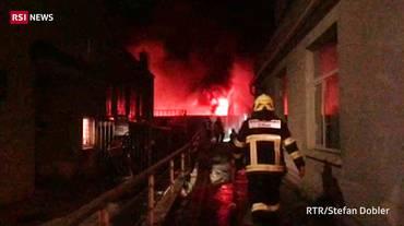 In fiamme il garage di AutoPostale