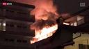 Appartamento in fiamme