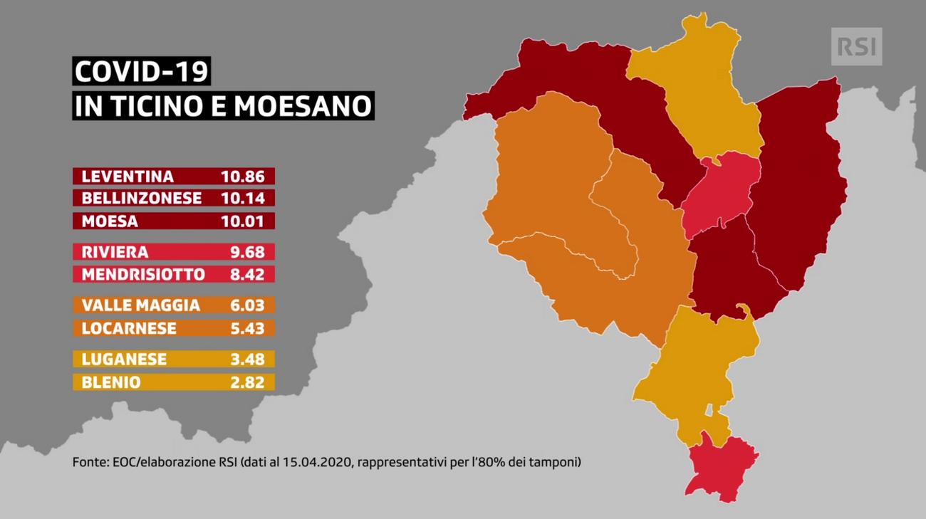Cartina Ticino Svizzera.La Mappa Del Covid 19 Rsi Radiotelevisione Svizzera