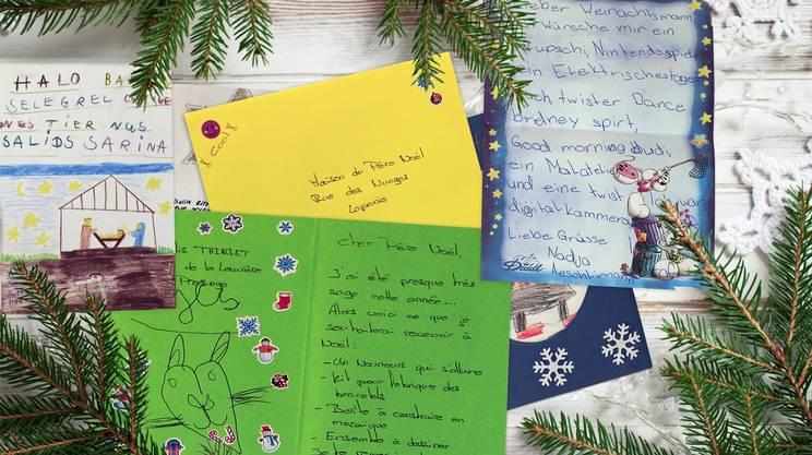 Alcune delle lettere inviate dai bambini l'anno scorso
