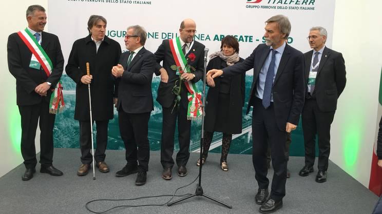 Autorità svizzere e italiane sul podio per l'inaugurazione