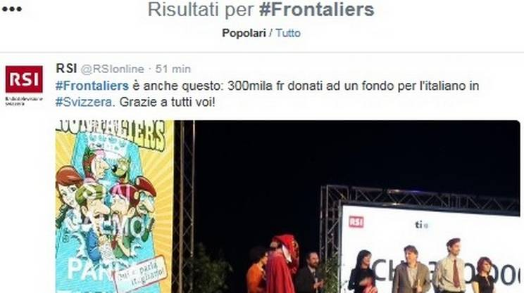 #Frontaliers anche su Twitter